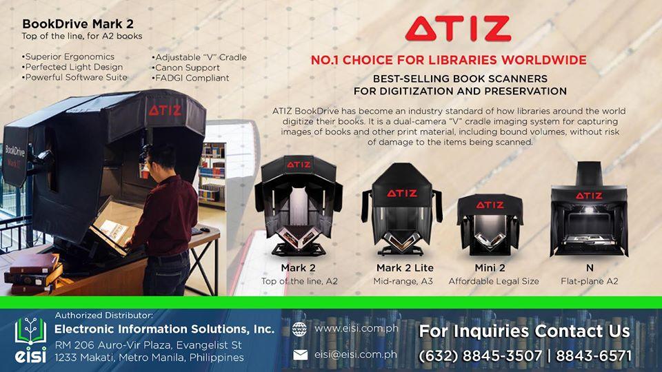 ATIZ book scanners